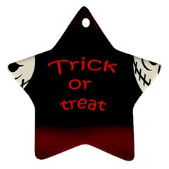 Trick or treat 2 Ornament (Star)