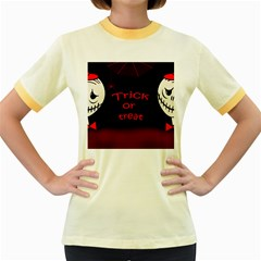 Trick or treat 2 Women s Fitted Ringer T-Shirts