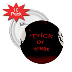 Trick or treat 2 2.25  Buttons (10 pack)