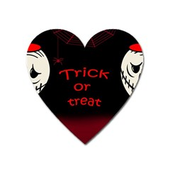 Trick or treat 2 Heart Magnet
