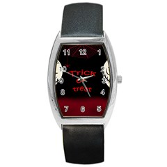 Trick or treat 2 Barrel Style Metal Watch