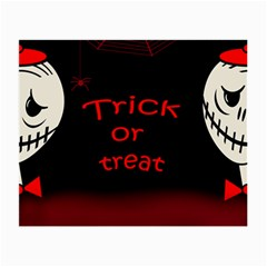 Trick or treat 2 Small Glasses Cloth