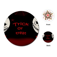 Trick or treat 2 Playing Cards (Round)