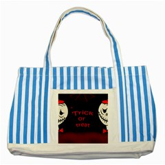 Trick or treat 2 Striped Blue Tote Bag