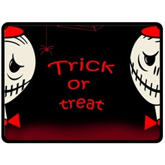 Trick or treat 2 Fleece Blanket (Large)