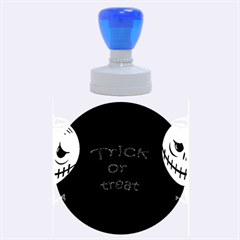 Trick or treat 2 Rubber Round Stamps (Large)