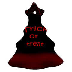 Trick or treat 2 Christmas Tree Ornament (2 Sides)