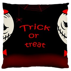 Trick or treat 2 Large Cushion Case (Two Sides)