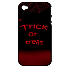 Trick or treat 2 Apple iPhone 4/4S Hardshell Case (PC+Silicone)