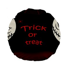 Trick or treat 2 Standard 15  Premium Round Cushions