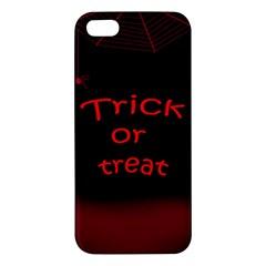 Trick or treat 2 Apple iPhone 5 Premium Hardshell Case