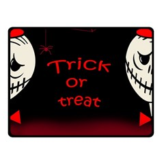 Trick or treat 2 Double Sided Fleece Blanket (Small)