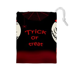 Trick or treat 2 Drawstring Pouches (Large)