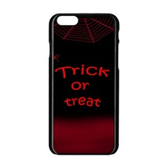 Trick or treat 2 Apple iPhone 6/6S Black Enamel Case