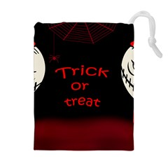 Trick or treat 2 Drawstring Pouches (Extra Large)