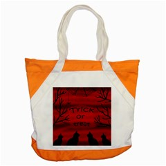 Trick or treat - black cat Accent Tote Bag