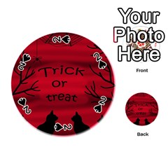 Trick or treat - black cat Playing Cards 54 (Round)
