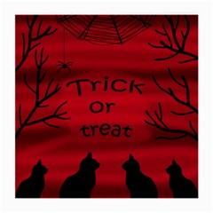 Trick or treat - black cat Medium Glasses Cloth