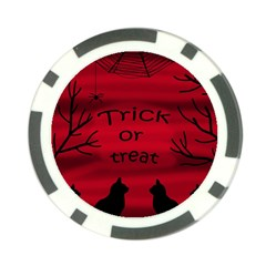 Trick or treat - black cat Poker Chip Card Guards