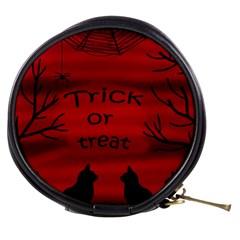 Trick or treat - black cat Mini Makeup Bags