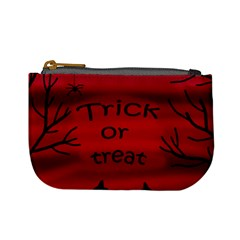 Trick or treat - black cat Mini Coin Purses