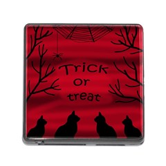 Trick or treat - black cat Memory Card Reader (Square)