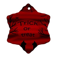 Trick or treat - black cat Ornament (Snowflake)