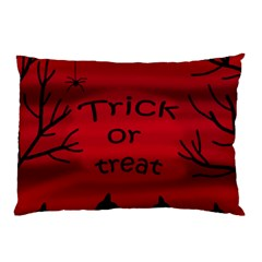 Trick or treat - black cat Pillow Case (Two Sides)