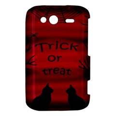 Trick or treat - black cat HTC Wildfire S A510e Hardshell Case