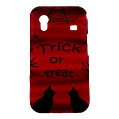 Trick or treat - black cat Samsung Galaxy Ace S5830 Hardshell Case