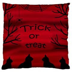 Trick or treat - black cat Large Cushion Case (Two Sides)