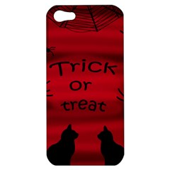 Trick or treat - black cat Apple iPhone 5 Hardshell Case