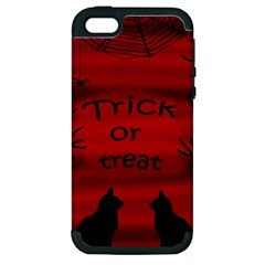 Trick or treat - black cat Apple iPhone 5 Hardshell Case (PC+Silicone)