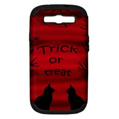 Trick or treat - black cat Samsung Galaxy S III Hardshell Case (PC+Silicone)
