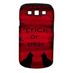 Trick or treat - black cat Samsung Galaxy S III Classic Hardshell Case (PC+Silicone)
