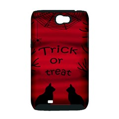 Trick or treat - black cat Samsung Galaxy Note 2 Hardshell Case (PC+Silicone)
