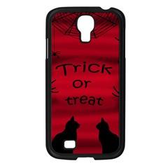 Trick or treat - black cat Samsung Galaxy S4 I9500/ I9505 Case (Black)