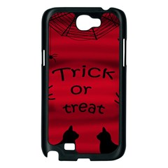 Trick or treat - black cat Samsung Galaxy Note 2 Case (Black)