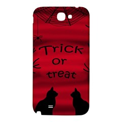 Trick or treat - black cat Samsung Note 2 N7100 Hardshell Back Case
