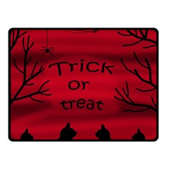 Trick or treat - black cat Double Sided Fleece Blanket (Small)