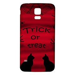 Trick or treat - black cat Samsung Galaxy S5 Back Case (White)