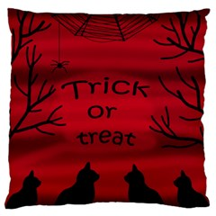Trick or treat - black cat Standard Flano Cushion Case (Two Sides)