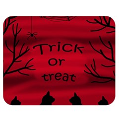 Trick or treat - black cat Double Sided Flano Blanket (Medium)