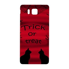 Trick or treat - black cat Samsung Galaxy Alpha Hardshell Back Case