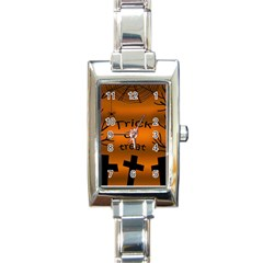 Trick or treat - cemetery  Rectangle Italian Charm Watch