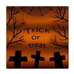 Trick or treat - cemetery  Tile Coasters