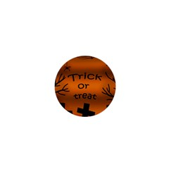Trick or treat - cemetery  1  Mini Buttons