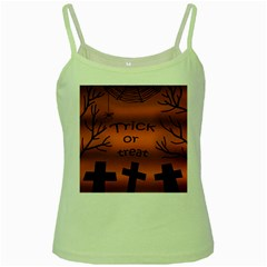 Trick or treat - cemetery  Green Spaghetti Tank