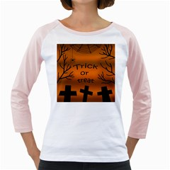 Trick or treat - cemetery  Girly Raglans