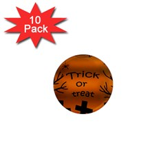 Trick or treat - cemetery  1  Mini Magnet (10 pack)